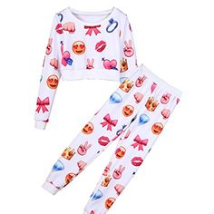 Emoji Joggers and Crop Top Best Gifts for Teen Girls - The Perfect Gift Store