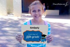 Printable back-to-school photo signs to mark your student's 1st day
