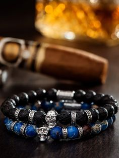 The Silver Crown Stack offers our top selling silver Emperador and Admiral bracelets as a bundle. Paracord Bracelets, Bracelets For Men, Beaded Bracelets, Fine Jewelry, Men's Jewelry, Jewelry Ideas, Jewlery, Mens Skull Jewelry, Stylish Mens Outfits