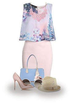 """""""Posh in Pink"""" by abigaillieb ❤ liked on Polyvore featuring Boohoo, Christian Dior, Linda Farrow, Express and Acne Studios"""