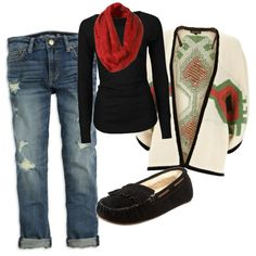 Loving this cardigan!minus the shoes lol! Winter Style, Autumn Winter Fashion, Cool Outfits, Fashion Outfits, Womens Fashion, Christmas Party Outfits, Nice Clothes, Christmas Morning, Wardrobe Ideas