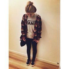 vans+chemise=bonheur