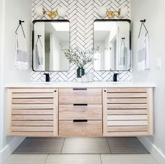 Check out this incredible bathroom vanity transformation! You won't believe what it looked like before! Bathroom Inspo, Master Bathroom, Bathroom Ideas, Double Vanity, Beach House, Interior Design, Bathrooms, Inspiration, Colorado