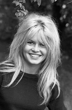 Brigitte Bardot....the hair that a lot of people blame during this post pop culture in Puerto Rico....because is not sleek, or fixed with hair iron!!!