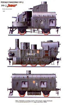 SmialyTrain 1919 - Russian Civil War Armoured Train Improvised from a short haul freight engine & boxcars.