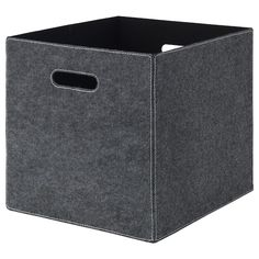 IKEA - BLÄDDRA, Box, gray, Perfect for everything from newspapers to clothes. Easy to pull out as the box has handles on both sides. Dimensioned to fit KALLAX shelf unit. Small Storage, Storage Boxes, Storage Baskets, Media Storage, Ikea Storage, Fabric Storage, Kallax Shelving Unit, Shelves, Kallax Insert