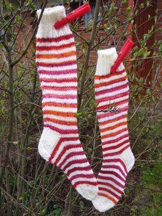 Hand made by Aino P. Knitting Projects, Christmas Stockings, Holiday Decor, Handmade, Home Decor, Needlepoint Christmas Stockings, Hand Made, Decoration Home, Room Decor