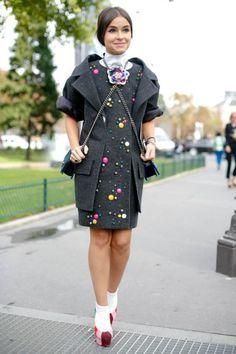 Mira Duma at Paris Fashion Week #pfw #paris #streetstyle
