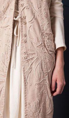 Garment detail Alabama Chanin collection Jan 2014