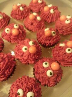 Elmo cake balls