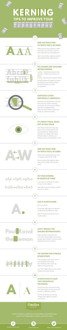 On the Creative Market Blog - Infographic: Kerning Tips to Improve Your…