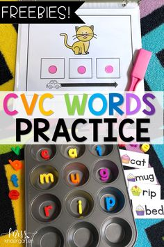 As you're teaching your students to decode CVC words, it is important to give th. - Phonics - As you're teaching your students to decode CVC words, it is important to give them opportunities - Miss Kindergarten, Kindergarten Language Arts, Kindergarten Centers, Preschool Literacy, Kindergarten Literacy Activities, Kindergarten Tables, Fun Phonics Activities, Small Group Activities, Reading Activities
