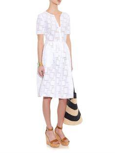 Jesse checked-jacquard dress | Saloni | MATCHESFASHION.COM US