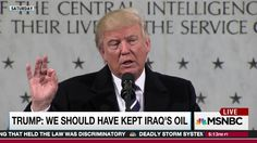 Rachel Maddow looks at how Donald Trump's continued mention of taking oil from other countries as a spoil of war makes those countries feel threatened and puts U.S. troops in those countries at risk.