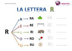 La lettera R e le sue sillabe