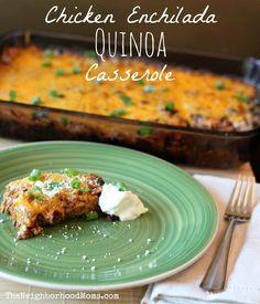 Chicken Quinoa Enchilada Casserole - I love Quinoa!