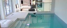 piscina privata rivestita in Slimtech Shade Milk