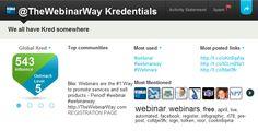 Kred, Kredibility, Credentials, Kredentials on Twitter #webinarway
