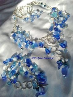 SOLD 8 7 13 Color Me Blue Charm Set by URStyleJewelry on Etsy, $30.00