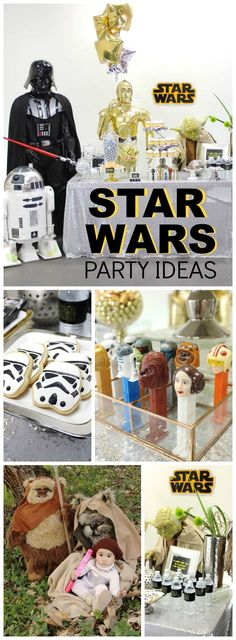 You have to see this incredible Star Wars birthday party! See more party ideas at CatchMyParty.com!