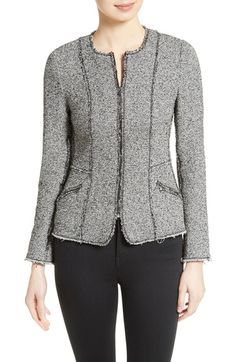 Rebecca Taylor Bouclé Tweed Jacket available at #Nordstrom
