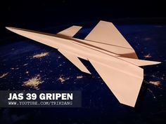BEST PAPER AIRPLANES [41] - How to make a paper plane that Flies | JAS 39 Gripen - YouTube