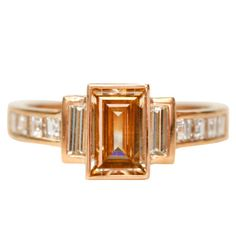 Emerald Cut Diamond Engagement Ring at 1stdibs