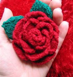 knit flowers on Pinterest Knitted Flowers, Knitting Patterns and Knits