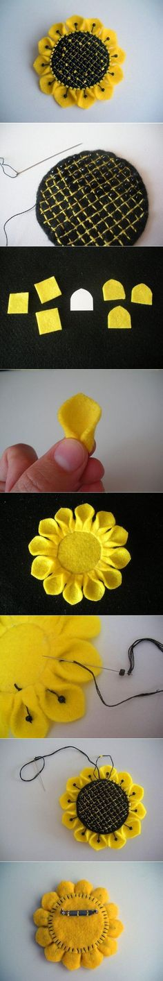DIY Brooch Sunflower DIY Brooch Sunflower