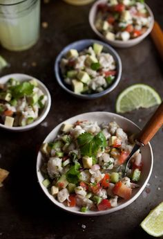 ceviche -- leave out the tortilla chips and you have a great Paleo meal.