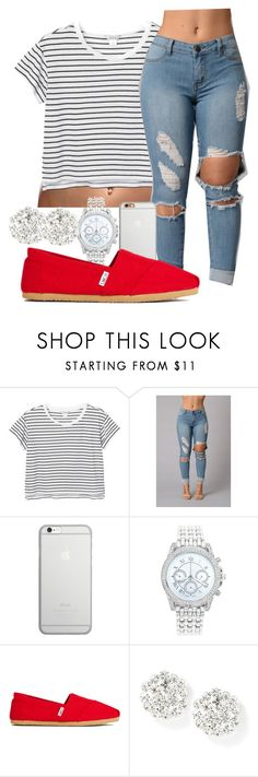 """""""out with a"""" by gvlden-bvbx ❤ liked on Polyvore featuring Monki, Native Union, Lane Bryant and TOMS"""