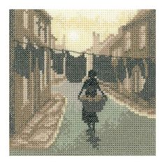 A stunning silhouette stitch, this vintage inspired Wash Day cross stitch kit from Heritage Crafts is designed by Amanda Jane Butler. Counted Cross Stitch Kits, Cross Stitch Charts, Cross Stitch Designs, Cross Stitch Patterns, Stitching Patterns, Cross Stitching, Cross Stitch Silhouette, Black Sheep Wool, Heritage Crafts