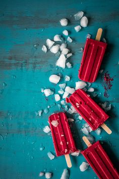 Leftover Cranberry Sauce Popsicles with Greek Yogurt and Maple Syrup