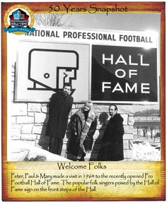 Snapshot: 50 Years of the Pro Football Hall of Fame: Peter, Paul