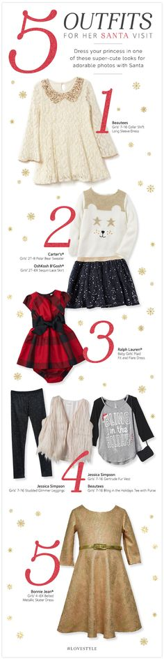 Check out our picture-perfect outfits for visiting with Santa on the #LoveStyle blog.