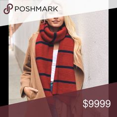 🍂COMING SOON🍂HORIZONTAL STRIPE SCARF LIKE THIS LISTING TO BE NOTIFIED WHEN AVAILABLE😀 Accessories Scarves & Wraps