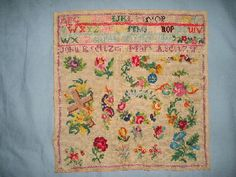 A Pretty 19th Century Sampler ~ Berlin WoolWork Patterns