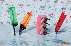 By Maurizio Cattelan and Pierpaolo Ferrari Pop Box, Toilet Paper, Ferrari, Rainbow, Sculpture, Proposal, Image, Studio, Art