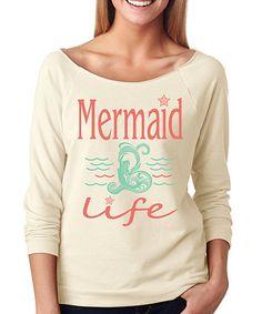 Look at this #zulilyfind! Ivory 'Mermaid Life' Raglan Tee #zulilyfinds