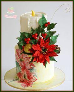 Poinsetta Cake by Jo Finlayson (Jo Takes the Cake)