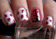 www.weddbook.com everything about wedding ♥ Ladybug Nail Design #wedding #ladybug #red #nail