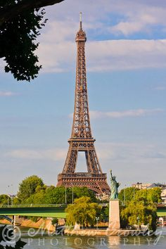 Eiffel Tower and Statue of Liberty - Paris, France