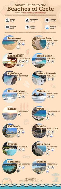 Smart Guide to the Beaches of  ▶ www.rental-center… Smart Guide to the beaches of # Crete ▶ www. Greece Honeymoon, Greece Vacation, Greece Travel, Greece Trip, Croatia Travel, Honeymoon Dress, Santorini, Mykonos Greece, Athens Greece