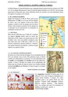 HISTORIA ANTIGUA.   apuntes sobre Egipto, Grecia, Roma y España en ese tiempo.