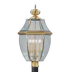 Livex Lighting 2358 01 Monterey Post Mount Antique Brass