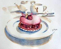 Paris breakfast。Carol Gillott。_神气的无泯君_新浪轻博客