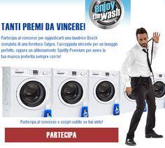 Concorso a premi Instant Win Enjoy the Wash per vincere lavatrice BOSCH - http://www.omaggiomania.com/concorsi-a-premi/concorso-premi-instant-win-enjoy-the-wash-per-vincere-lavatrice-bosch/
