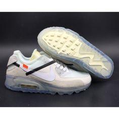 cheap for discount 69e94 cc5c6 OFF-WHITE x Nike Air Max 90 Men s Ice 10X AA7293-100 New Nike