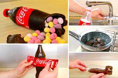 Comment réaliser sa bouteille de Coca surprise en chocolat