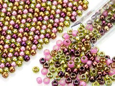 Orchid 8/0 Designer Seed Bead Blend